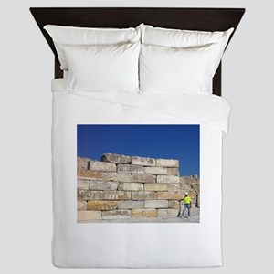 Block Wall Queen Duvet