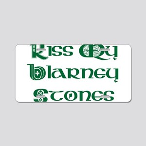 Kiss My Blarney Stones Aluminum License Plate