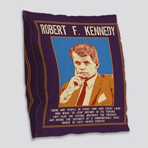 Robert Kennedy -Future Burlap Throw Pillow