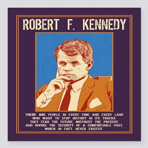 "Robert Kennedy -Future Square Car Magnet 3"" x 3"""