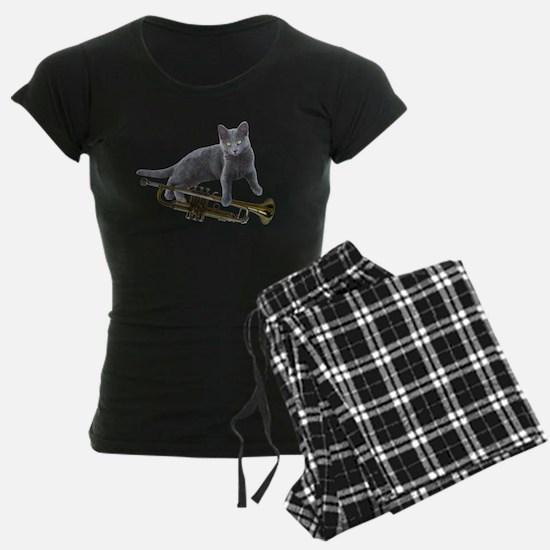 Cat with Trumpet Pajamas