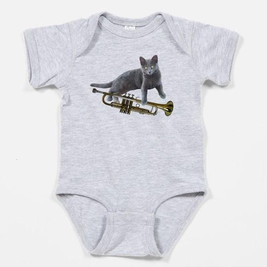 Cat with Trumpet Body Suit