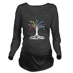 Traditional Dark Long Sleeve Maternity T-Shirt