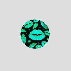 Kisses All Over (Green) Mini Button