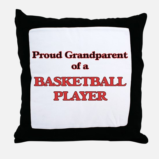 Proud Grandparent of a Basketball Pla Throw Pillow