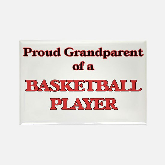 Proud Grandparent of a Basketball Player Magnets