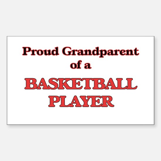 Proud Grandparent of a Basketball Player Decal