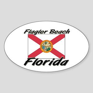 Flagler Beach Florida Oval Sticker