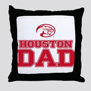 Houston Cougars Dad Throw Pillow
