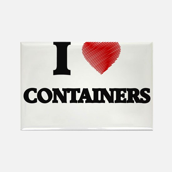 I Love CONTAINERS Magnets