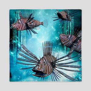 Wonderful lionfish Queen Duvet