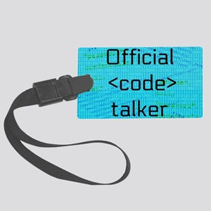 Code Talker Large Luggage Tag