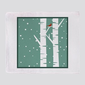 Snow Scene Throw Blanket