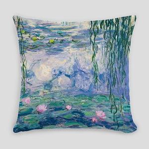 Water Lilies Claude Monet Fine Art Everyday Pillow