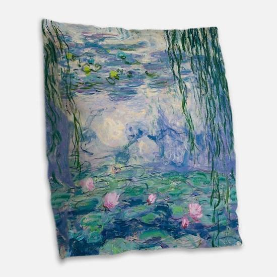 Water Lilies Claude Monet Fine Art Burlap Throw Pi