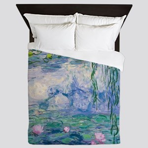 Water Lilies Claude Monet Fine Art Queen Duvet