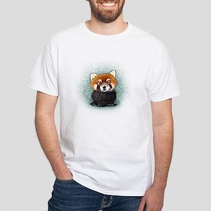 KiniArt Red Panda White T-Shirt