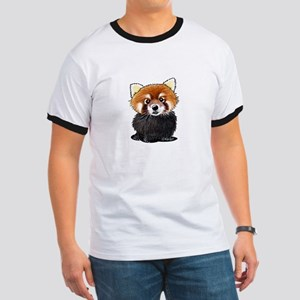KiniArt Red Panda Ringer T