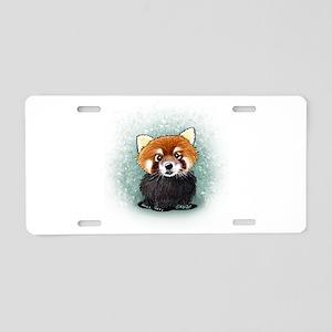 KiniArt Red Panda Aluminum License Plate