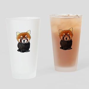 KiniArt Red Panda Drinking Glass