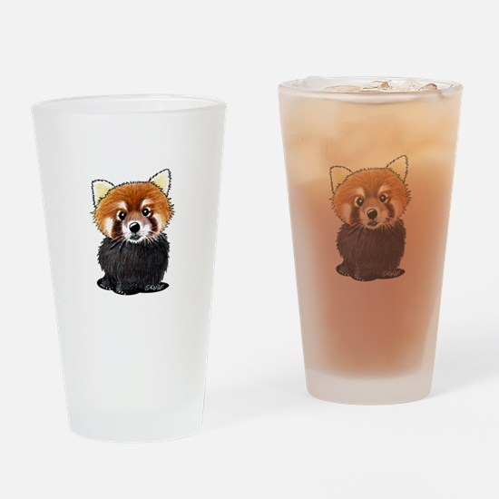 KiniArt Red Panda Drinking Glass