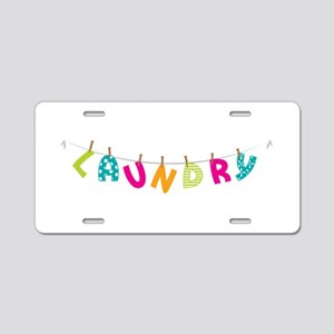 Laundry Aluminum License Plate