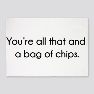 You're All That And A Bag of Chips 5'x7'Area Rug