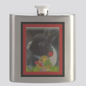 Rabbit with Basket of Flowers Flask