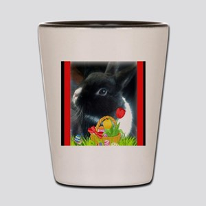 Rabbit with Basket of Flowers Shot Glass