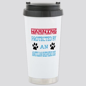 Warning Protected by an Stainless Steel Travel Mug