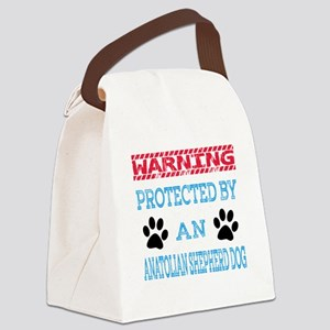 Warning Protected by an Anatolian Canvas Lunch Bag