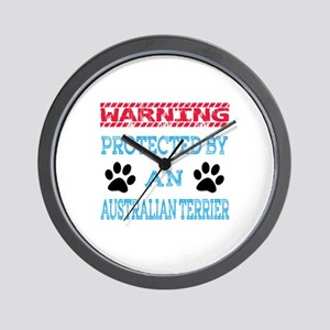Warning Protected by an Australian Terr Wall Clock