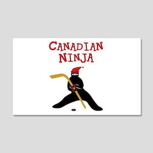 Canadian Ninja Hockey 20x12 Wall Decal