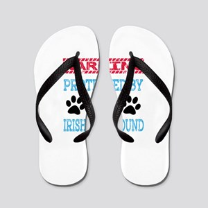 Warning Protected by an Irish Wolfhound Flip Flops