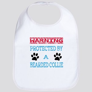 Warning Protected by a Bearded Collie Bib