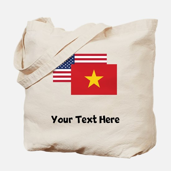 American And Vietnamese Flag Tote Bag