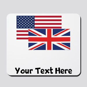 American And British Flag Mousepad