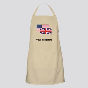 American And British Flag Apron