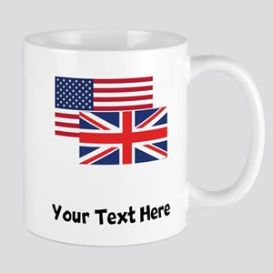 American And British Flag Mugs