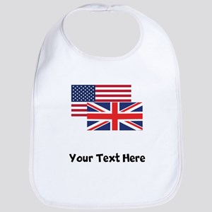 American And British Flag Bib