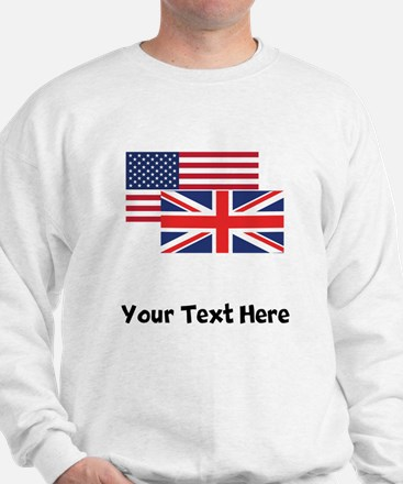 American And British Flag Sweatshirt