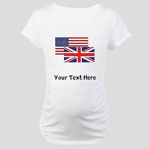 American And British Flag Maternity T-Shirt