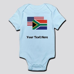 American And South African Flag Body Suit