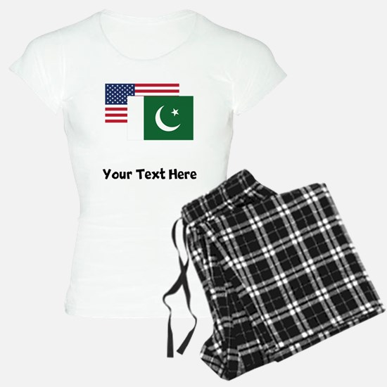 American And Pakistani Flag Pajamas