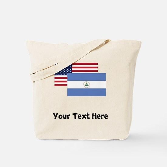 American And Nicaraguan Flag Tote Bag