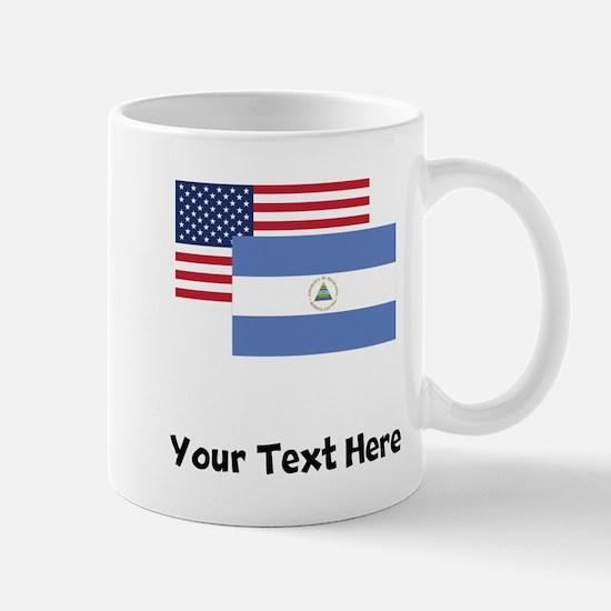 American And Nicaraguan Flag Mugs
