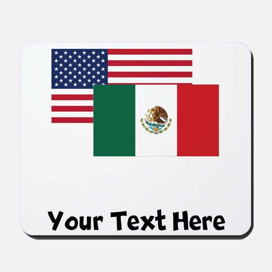 American And Mexican Flag Mousepad