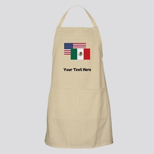 American And Mexican Flag Apron