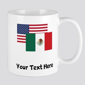 American And Mexican Flag Mugs