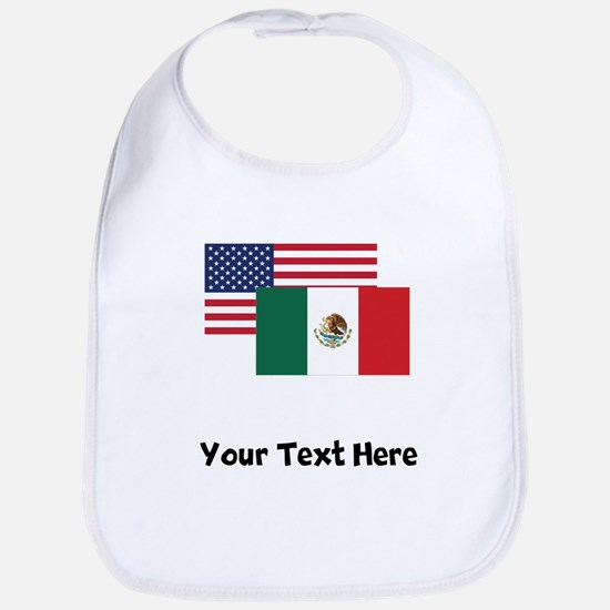 American And Mexican Flag Bib